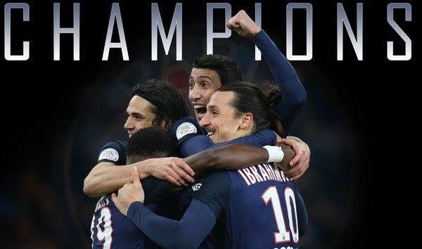 Piłkarze Paris Saint Germain zostali mistrzem Ligi Francuskiej na 8 kolejek przed końcem • PSG wygrało Ligue 1 - Gratulacje • Zobacz >> #psg #football #soccer #sports #pilkanozna