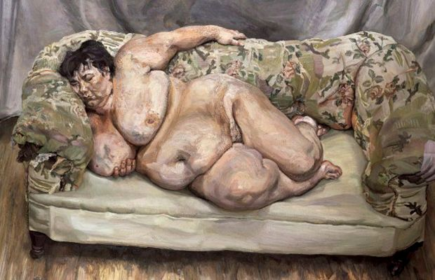 """Sue Tilley, who went on to become something of an art world celebrity, was the sitter for Freud's painting Benefits Advisor Sleeping which became the highest selling painting by a living artist (33.64 million) in 2008. """"He would paint with us both facing the canvas, so he'd look at me and then turn around to paint. I trained to be an art teacher, but I'm very shoddy, and it taught me that it's real work: each painting took 9 months. He was seeking perfection right up to the moment he…"""