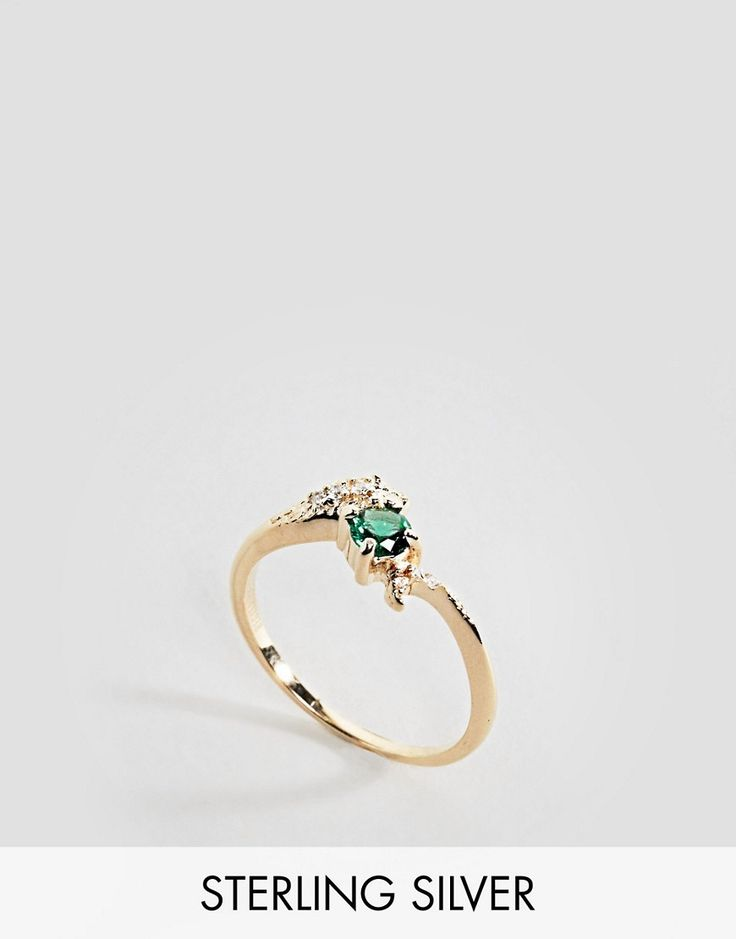 Regal Rose Poison Snake Emerald Ring - Gold
