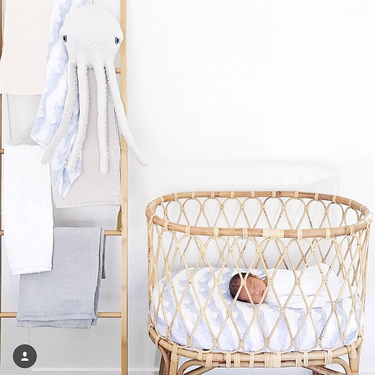 Gorgeous nursery! Featuring our rolling tides sheet set! www.wilsonandfrenchy.com.au
