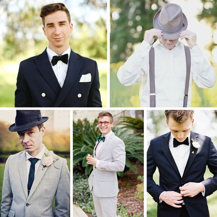 """The most dapper Groom and Groomsmen looks for a 1950s wedding, inspired by the epitome or sartorial sophsitcation, """"well-dressed man' himself Mr Cary Grant!"""