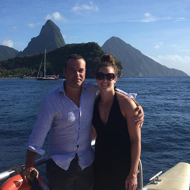 In front of the Pitons, St Lucia. Happy New Year all.