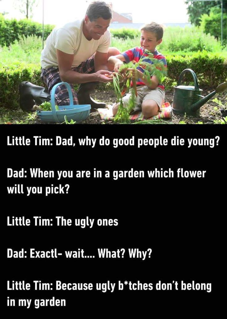 Wow. Never thought a little kid would say that