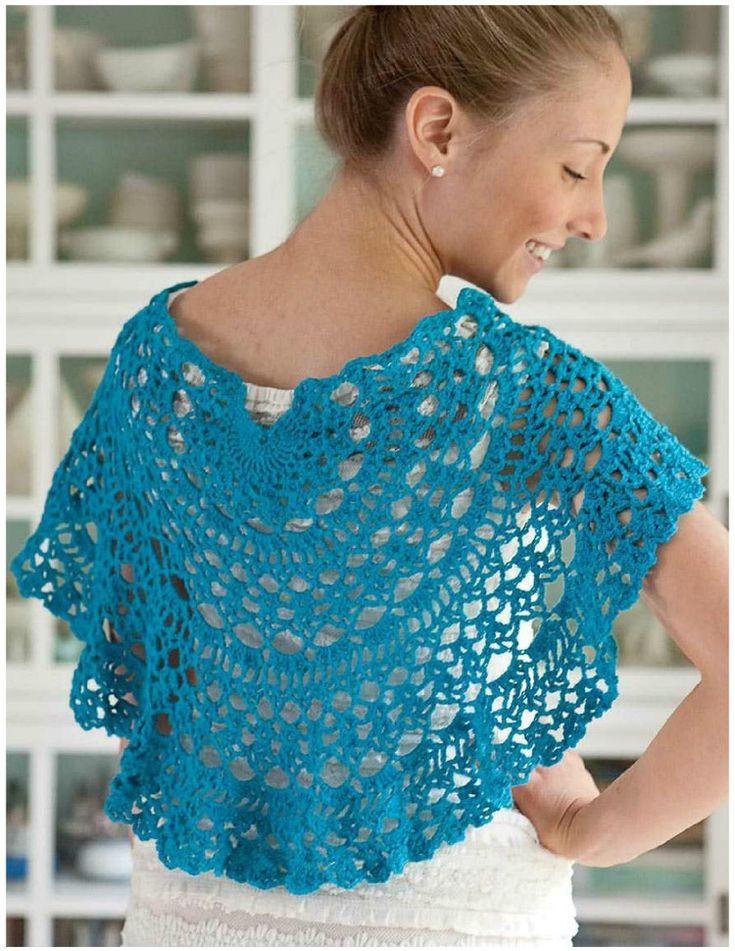 Mini Capa Chal con un Circulo de Crochet - Patrones Crochet