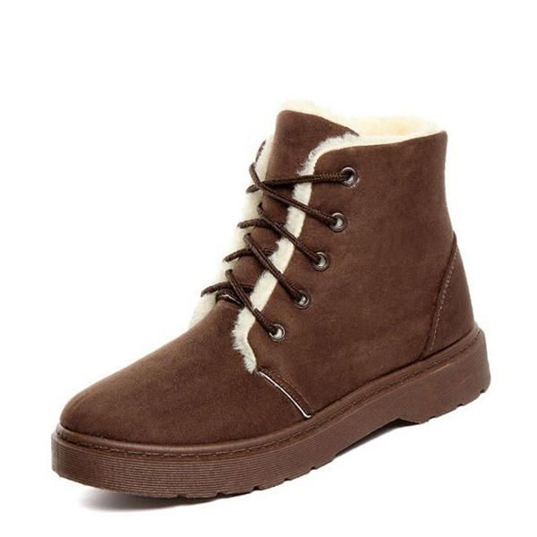 Winter Keep Warm Lace Up Snow Boots - US$28.99  #women #shoes #fashion