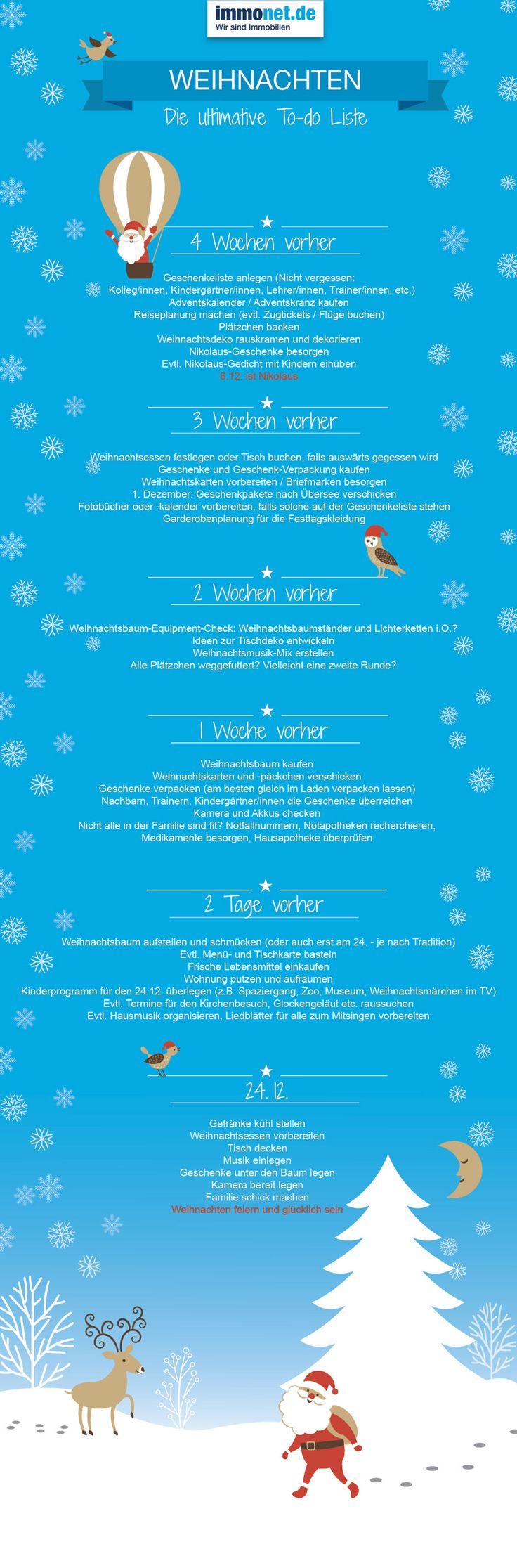 Die ultimative Weihnachts-To-Do-Liste. Bis Weihnachten muss noch einiges…
