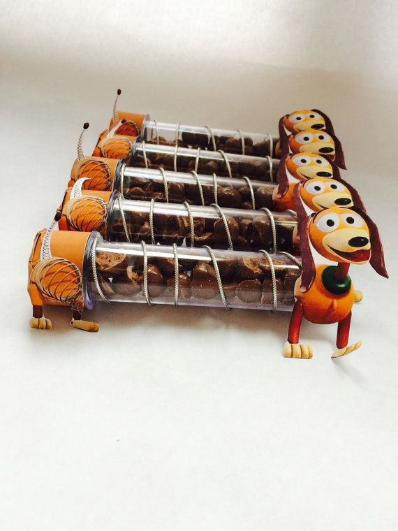 10 Candy Tube Slinky Dog. Toy Story Party. Kids by VanPaperCraft