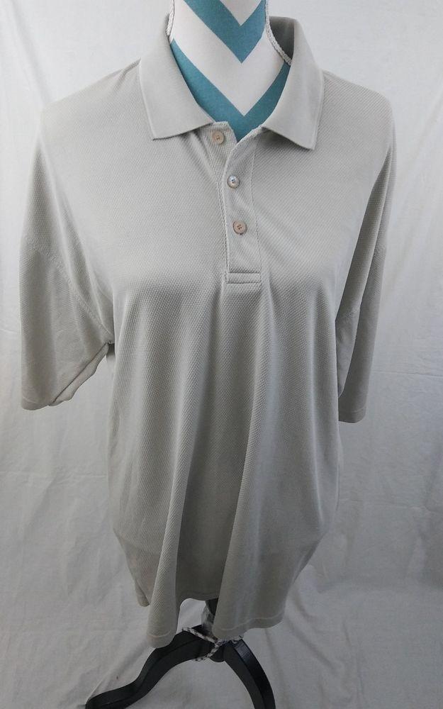 Nike Golf Men's Size XXL Cream Beige Woven Polo Shirt  #NikeGolf #PoloRugby