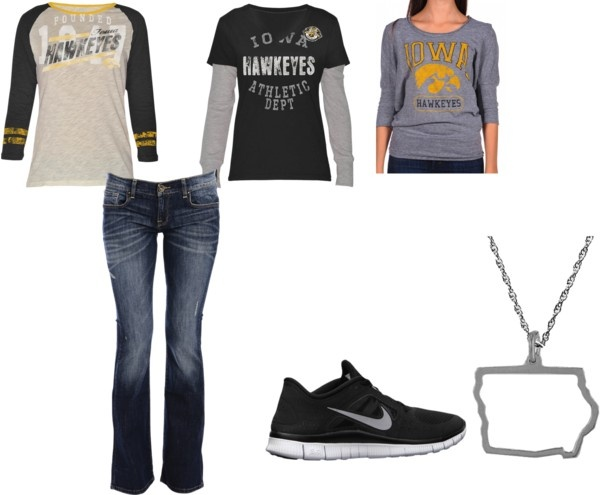 """""""Ready for Iowa Hawkeye Game"""" by miafrench on Polyvore"""
