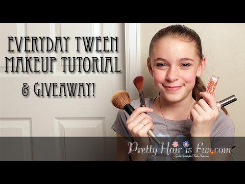 Everyday Tween Makeup Tutorial | Pretty Hair is Fun