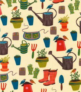 Novelty Quilt Print- Garden Goodness