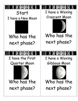 By using these Moon Phases cards, students are able to visualize and properly order the 8 phases of the Moon. Students will enjoy these cards as a small group or with the aid of guided instruction. Perfect for Moon lesson for primary grades and in coordination with Next Generation Science for lower grades.