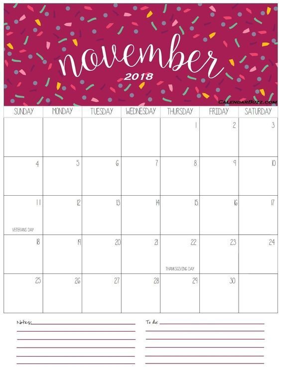cute november 2018 calendar images