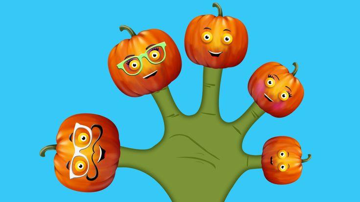 The Finger Family Pumpkin Family Nursery Rhyme | Pumpkin Finger Family S...