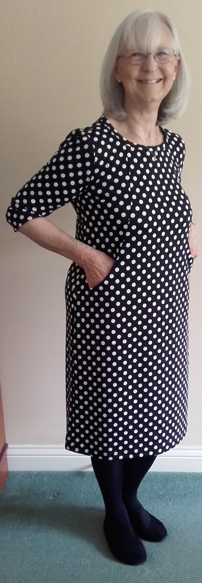 Sew Over It Heather Dress in polka dots
