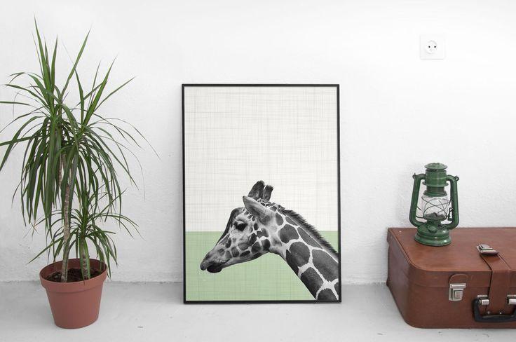 Giraffe Print, Safari Animal Print, African Decor Print, Photography Prints, Nursery Decor, Nursery Wall Art, Woodland animals, Giraffe Gift by SilBarragan on Etsy