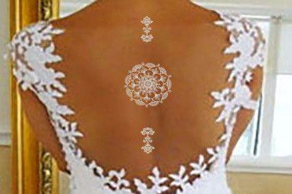 White Temporary Tattoo, Mandala Temporary Tattoo, White Ink Henna Tattoo, Lace Tattoo, Summer Beach Bridal Jewelry Bridesmaid Accessories