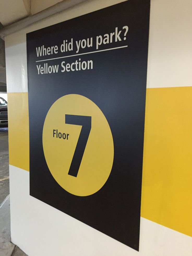 Parking garage graphics at Seattle-Tacoma International Airport