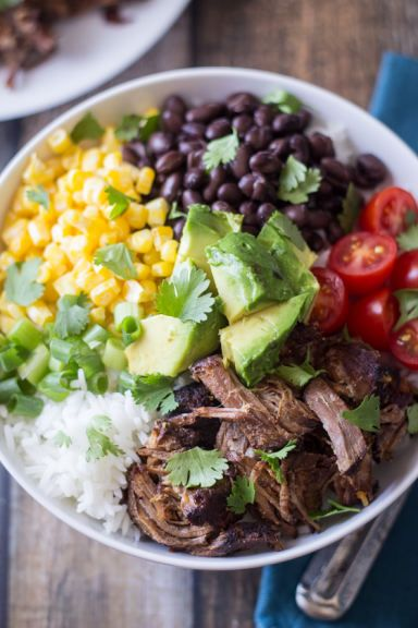Barbacoa Beef Bowls Recipe - no big deal, only the best thing you're family will ever eat.
