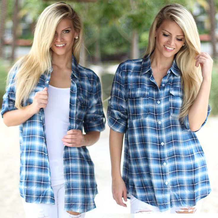 Stop what you are doing!! And fall in love with this Blue Flannel Top! Sweet and simple blue plaid that goes with everything. Rap around your waist or wear it with your favorite skinny jeans! Check out other cute tops at our trendy online boutique! Check out other cute tops at our trendy online boutique!