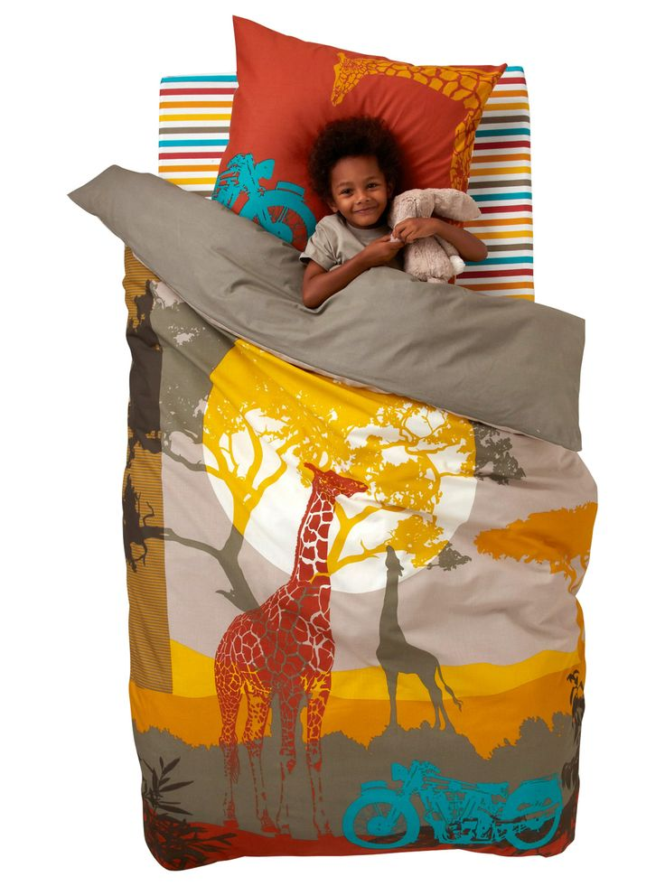Housse de couette african safari collection printemps for Couette vertbaudet
