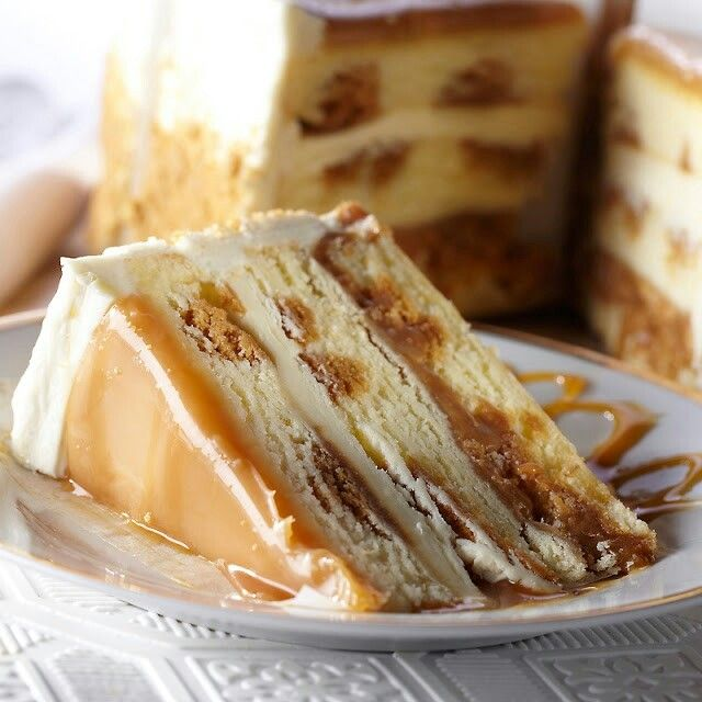 Salted Caramel Cake Recipe Extraordinary Of Salted Caramel Vanilla Crunch Cake Picture