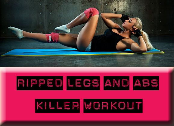 Get the workout here : http://www.mydreamshape.com/ripped-legs-abs-killer-workout