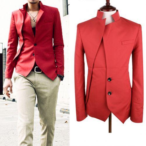 unique red blazer for men