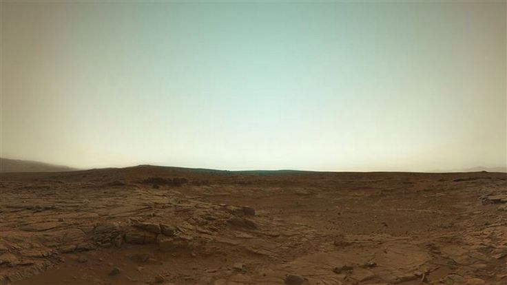 Mars in true color from the Curiosity Rover