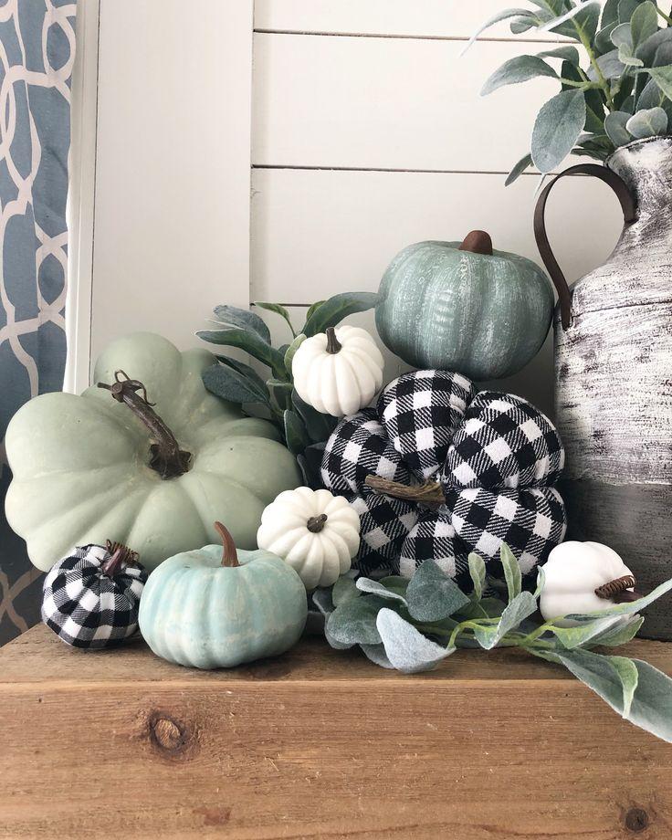 DIY Fall painted foam Pumpkins using Dollar Tree and Walmart pumpkins!