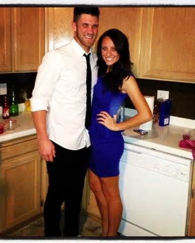 Bryce Harper #Nationals and his girlfriend Kayla