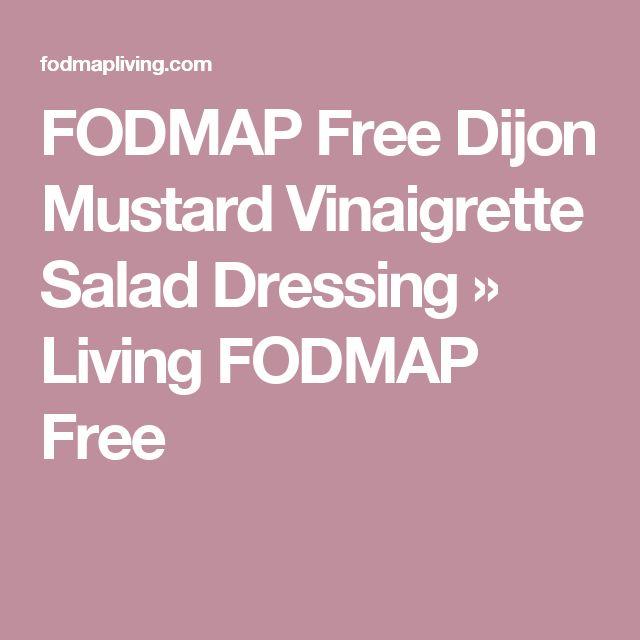 FODMAP Free Dijon Mustard Vinaigrette Salad Dressing » Living FODMAP Free