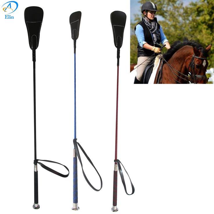 Baru Kedatangan 65 CM Cambuk kulit Kuda Kuda Tanaman peralatan Balap Kuda perlengkapan Berkuda Ksatria hitam biru Merah