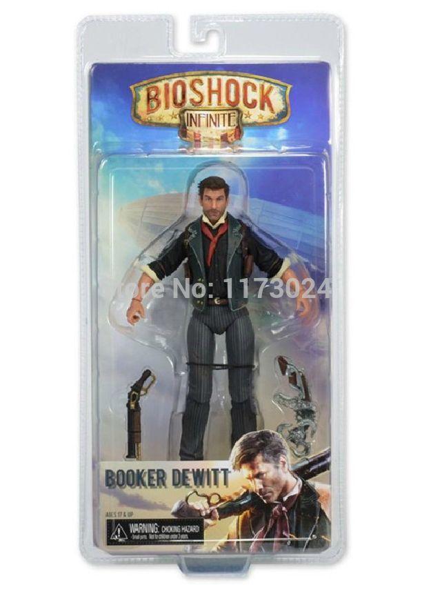 Поп-воздушными классический PC / Xbox / PS от первого лица съемки игры BioShock Infinite букер девитт 7  / 18 см фигурку игрушки в оригинальной коробке