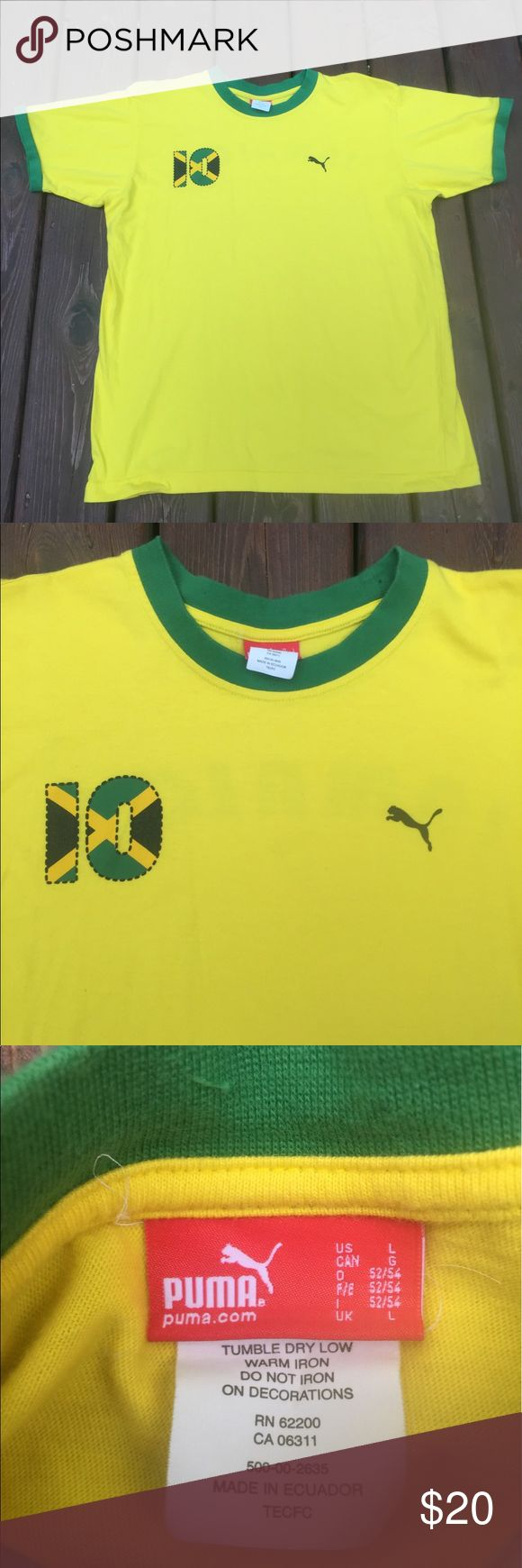 Men's Large Puma Jamaica shirt size Large Excellent condition Puma Shirts Tees - Short Sleeve