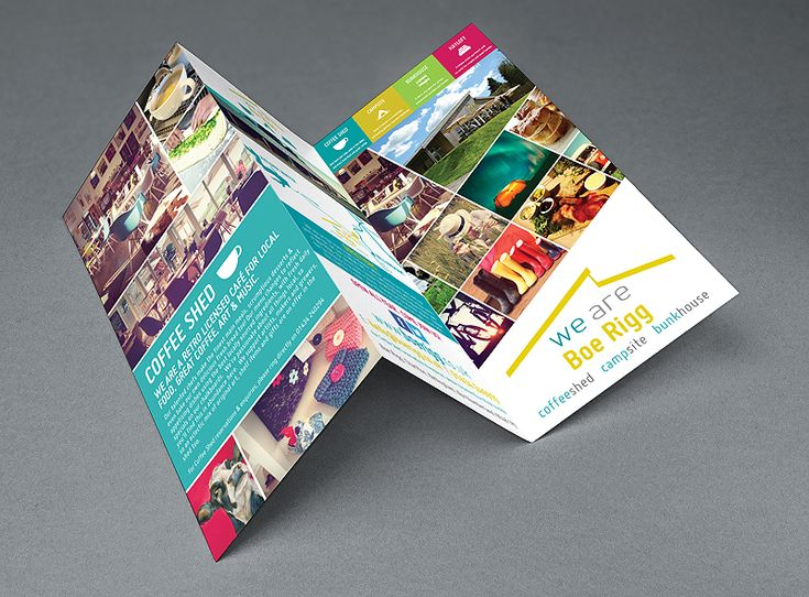 a dl format folded leaflet for Boe Rigg campsite near Kielder water in Northumberland and Hexham, Alnwick. - best flyer design