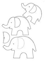 Finurlige elefanter i filt