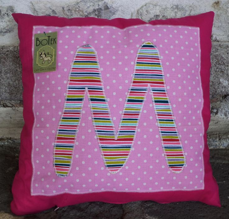 Cushion with initial  This one for Maria in Molyvos