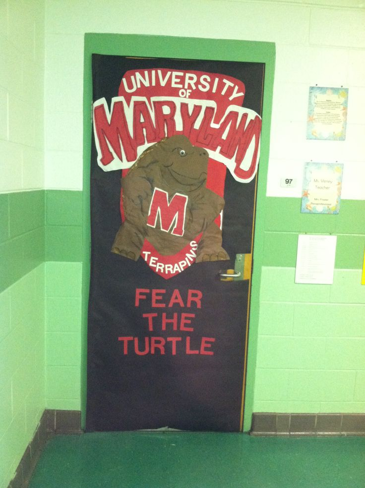 College Week At School Bulletin And Classroom Door