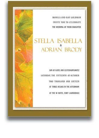 145 Rectangular Wedding Invitations - Autumn Splendor by WeddingPaperMasters.com. $379.90. Now you can have it all! We have created, at incredible prices & outstanding quality, more than 300 gorgeous collections consisting of over 6000 beautiful pieces that are perfectly coordinated together to capture your vision without compromise. No more mixing and matching or having to compromise your look. We can provide you with one piece or an entire collection in a one stop shopping ...