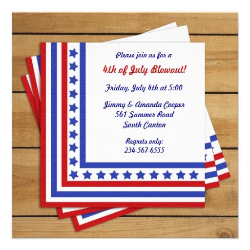 7 best 4th of July Invitations images on Pinterest 4th of july