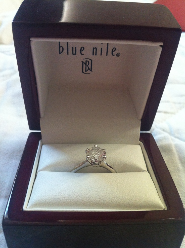 petite nouveau solitaire engagement ring in platinum by