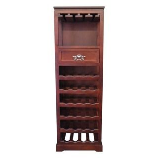 Mahogony 24-Bottle Tall Wine Rack (China) | Overstock.com Shopping - The Best Deals on Bar Storage 54 x 17.5 x 12