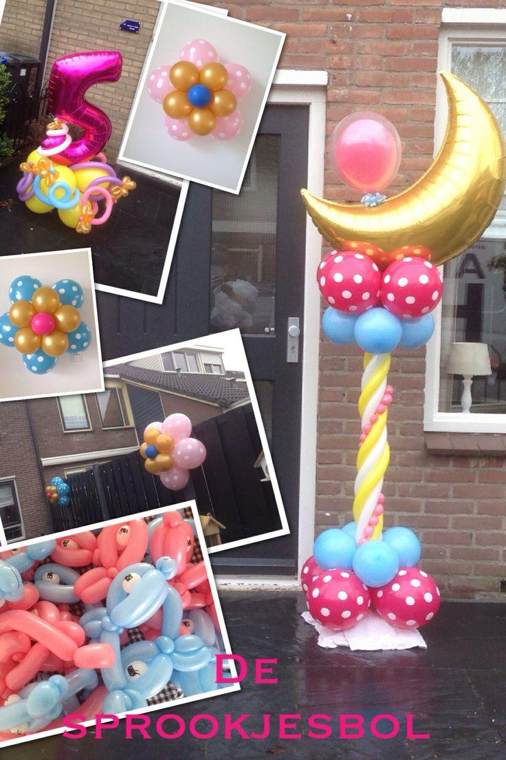 Kinder verjaardag ballon decoratie verzorgt door de sprookjesbol Bunschoten Spakenburg