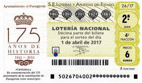 Loteria Nacional de España sorteo Nº 26 del Sabado 01 de Abril 2017. Lista de Premios Disponible. ¡Pincha Visita el Blog! ►