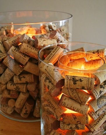 wine corks is definitely a collectors item to use as a decor idea in a home. It can create a vintage or industrial feel to a home. This idea is great in a bedroom or living room. Perhaps even in the bathroom to set the mood, candles by the bath.