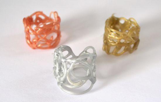 - Hot Glue Rings -