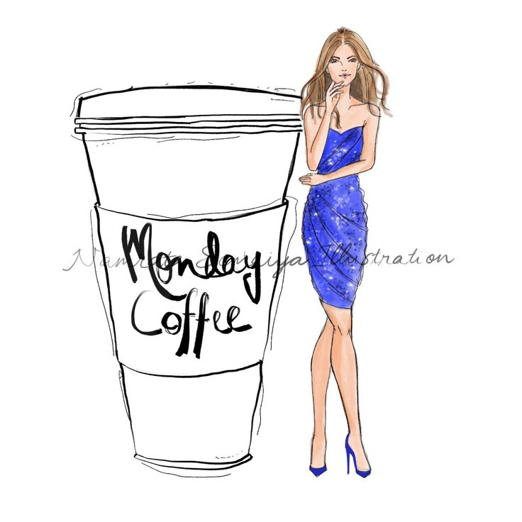 Excited to share the latest addition to my #etsy shop: Huge cup of Monday Coffee. (Fashion Illustration art print) http://etsy.me/2nadeyX #art #drawing #collectibles #prints #artprint #illustration #fashionillustration #fashiongirl #digitalart