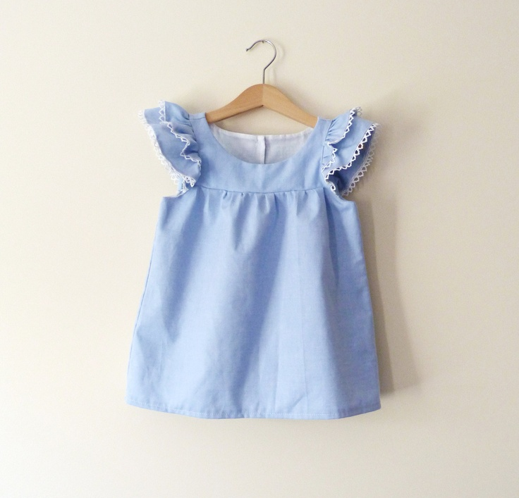 Chambray Indie Toddler Dress by littletboutique on Ets