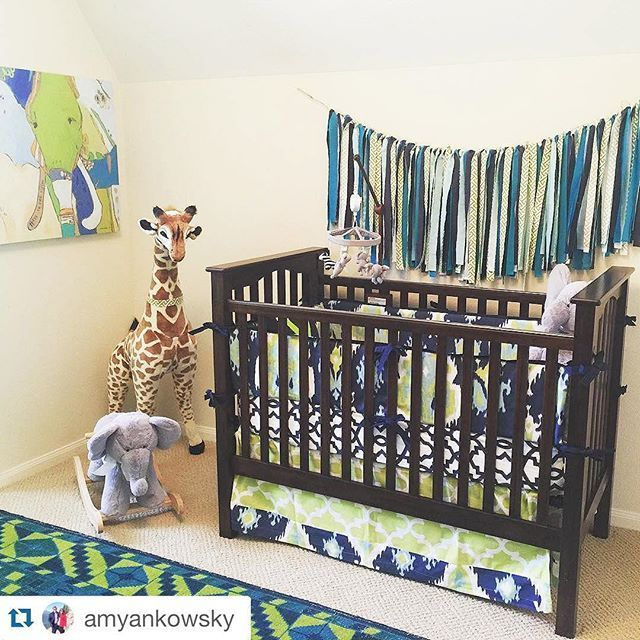 My goodness! We designed this custom nursery bedding using the Design Your Own section of the site. We collaborated with this sweet customer beginning with a picture of her fab tribal rug. The result is simply spectacular